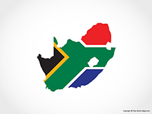 Map of South Africa - Flag